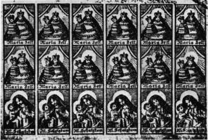 Schluckbildchen, Kupferstich aus dem 18. Jahrhundert. (Wikimedia)